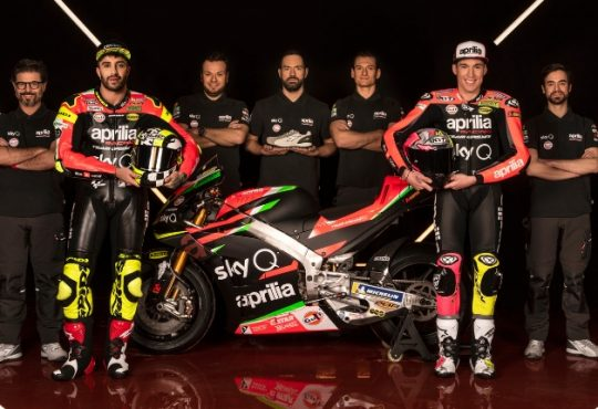 Aprilia Racing. Piaggio, e Diadora Utiliy, insieme nel Mondiale MotoGP 2019