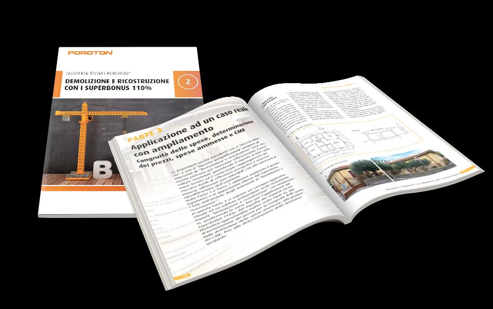 Quaderno Tecnico Poroton: demolizione e ricostruzione Superbonus 110%